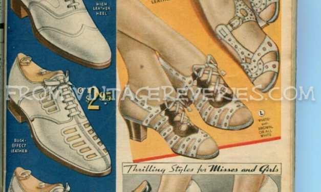 1935 Shoe fashions for women, men, and children