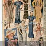 1935 Women's Dresses and Fashion