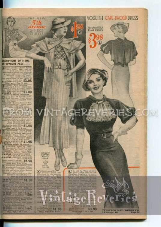 Summer 1935 Fashionable Dresses