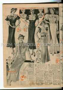 1935 dress fashion advertisement