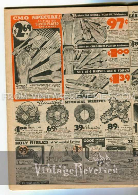 1930s silverware patterns