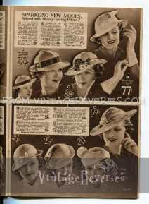1930s hat fashions