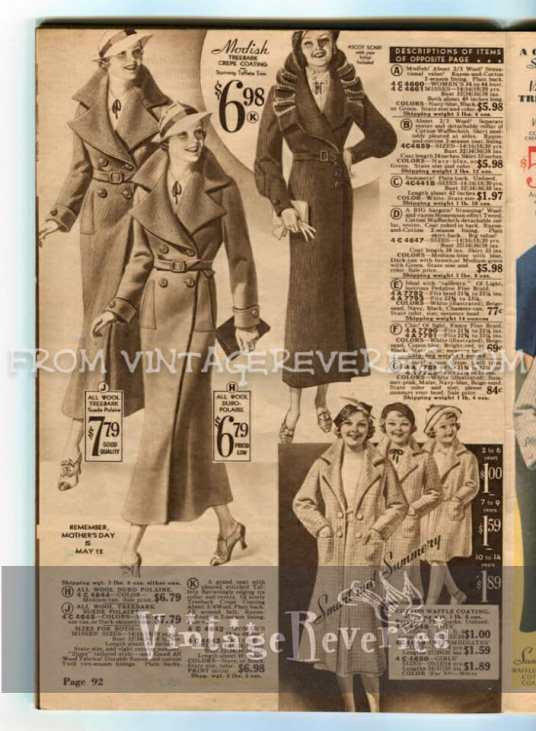 1930s women's suit and coat styles