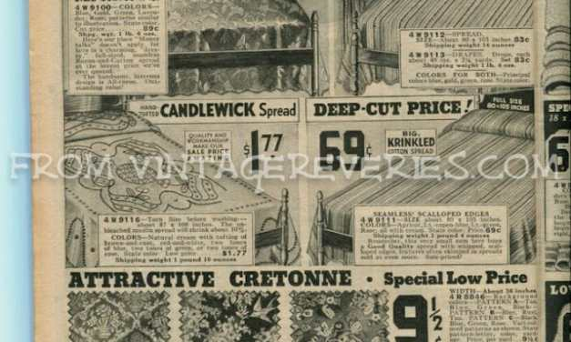 1930s curtains, sheets, & towel advertisements
