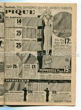 1930s catalog advertisements - dress making fabrics