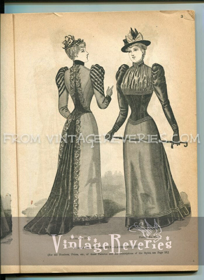 1892 dress with train