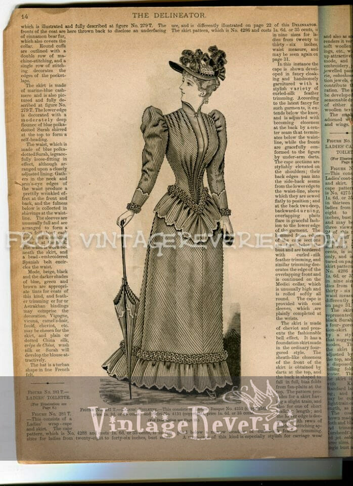 1890s fashion plate illustration