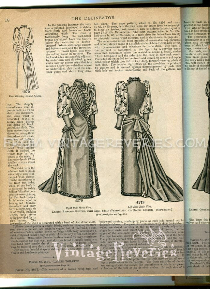 1892 dress fashion illustration
