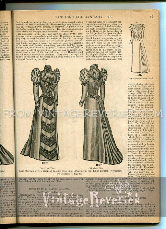 1890s dress illustrations