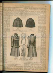 Winter 1890s coachmens cloak and ladies 3/4 length coat