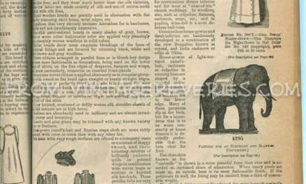 Styles for Dolls and a toy elephant (Victorian Toys – 1892)