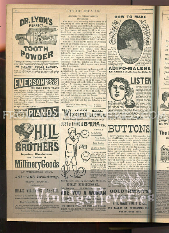 Victorian beauty advertisements, and other misc ads
