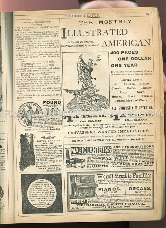 victorian piano ad