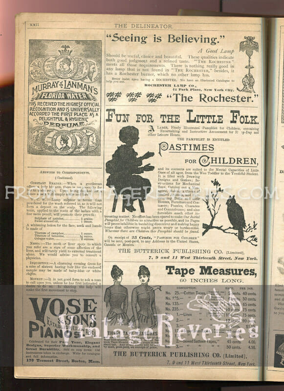 1890s fashion ads