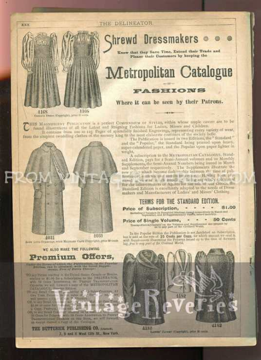 victorian fashion and coat and cloak ad