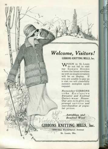1920s sweater advertisement