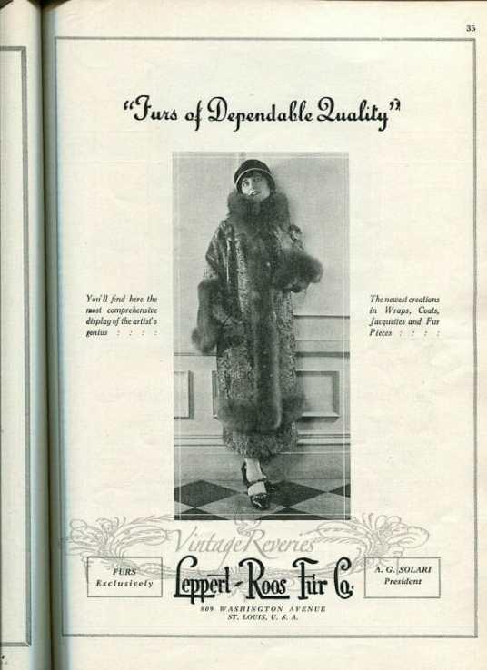 1920s fur coat fashion