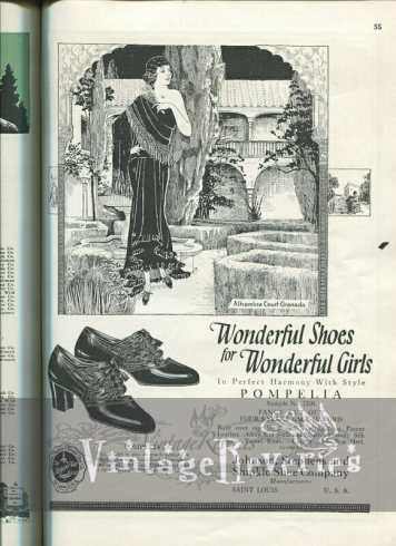 oriental inspired shoe advertisement