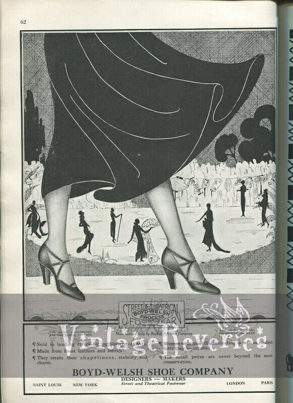 Shoe Advertisements from 1924 – 4 scans