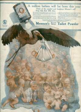 victorian baby powder ad