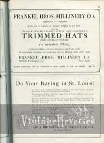St. Louis fashion ads 1920s