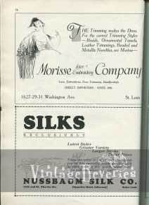 1920s silk and hat making ad