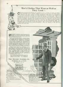 1920s mens suit fashion advertisement midwest st louis