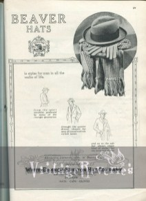 hat and gloves ad 1920s