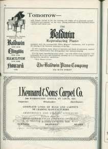 1920s reproduction piano advertisement Baldwin piano company