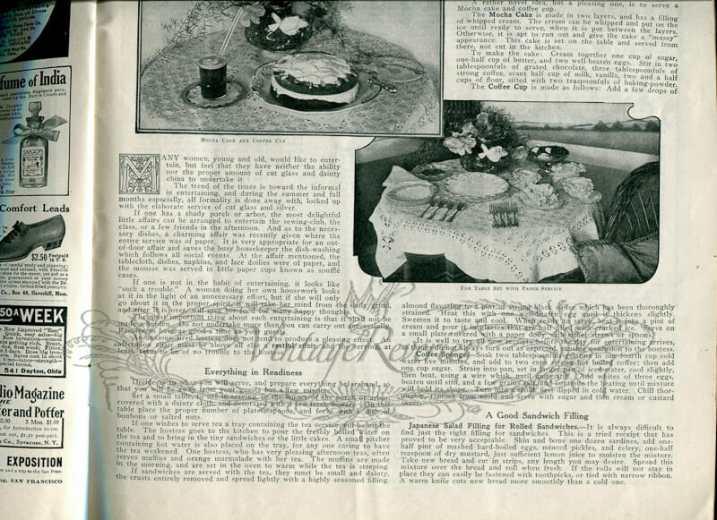 1913 meals