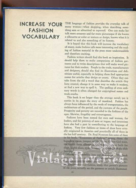 reference for fashion writers 1930s