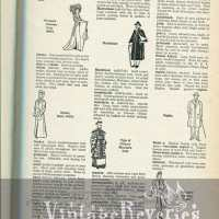 Different types of Coats illustrated - from The Language of Fashion
