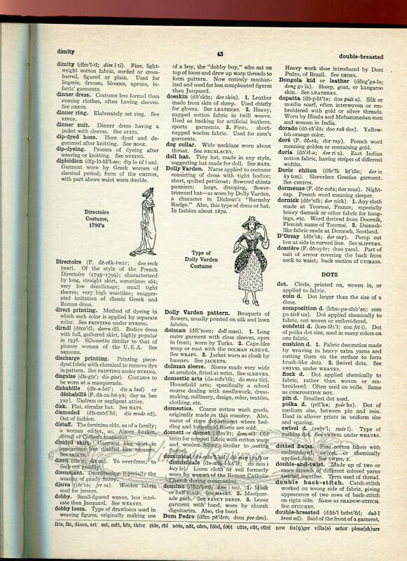 fashion word book