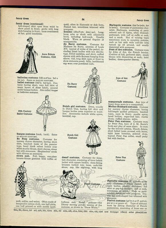 fancy dress types