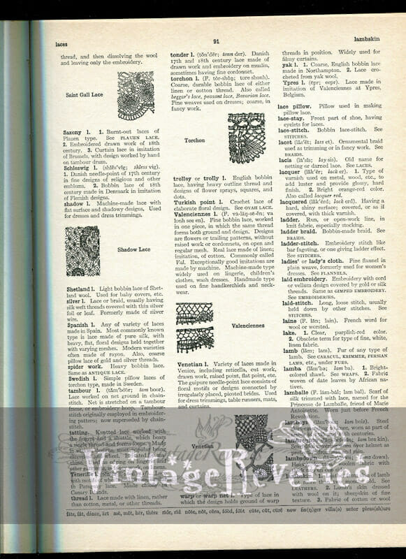 lace identification guide
