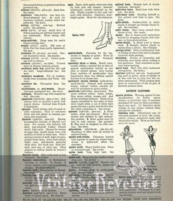Skirts thru sportswear – definitions and illustrations