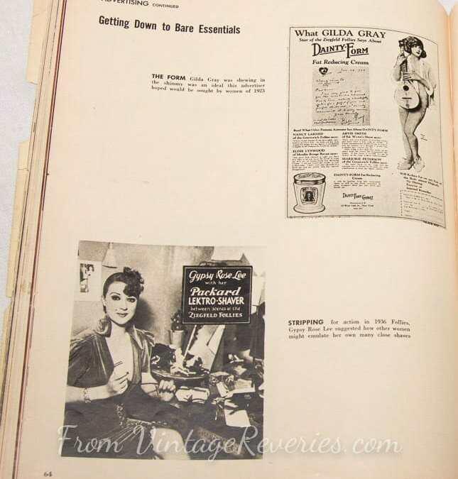 Corset and shapewear advertising history