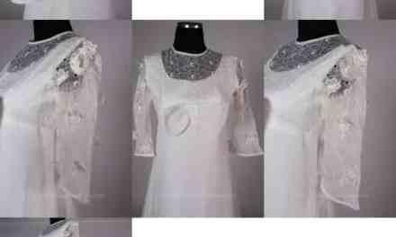 Vintage Vera Mont Paris Wedding Dress – hippie flower child, with lovely details