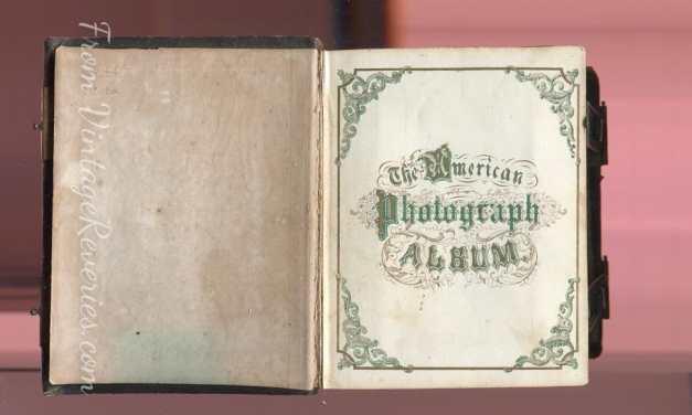 "Civil War Era Photo Album ""The American Photography Album"" – inside 2 pages"