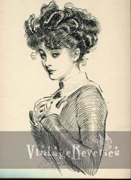 Not Worrying About Her Rights - Gibson Girl Illustration