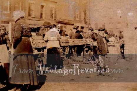 early 1900s market scene