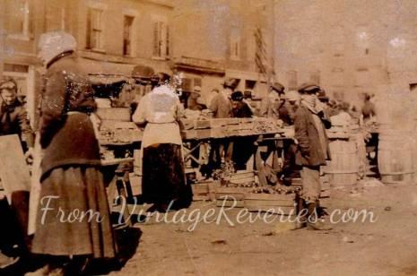 early 1900s market scene
