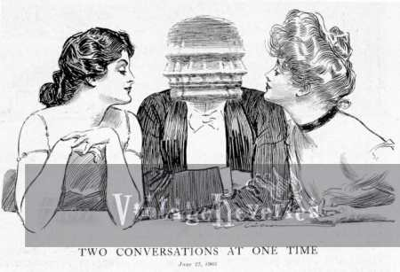 two conversations at once cartoon