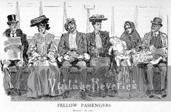train passengers cartoon by gibson