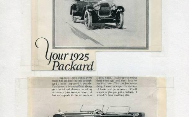 1920s Packard Auto Ads