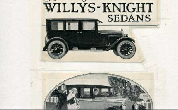 Wills Sainte Claire, Willys Knight, and Stutz auto ads