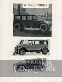 willys knight 1920s ad