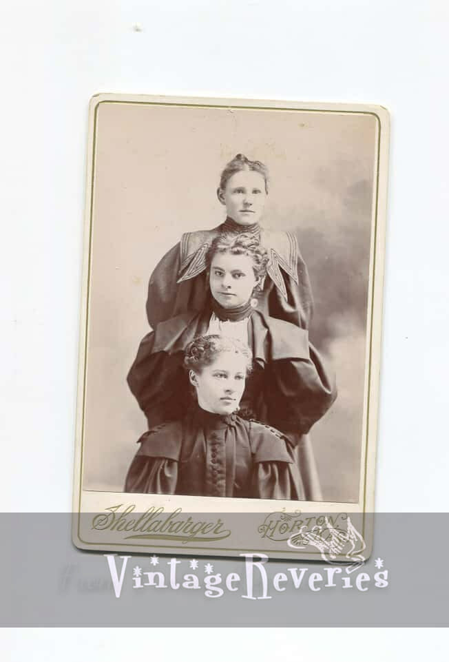 3 sisters cabinet card