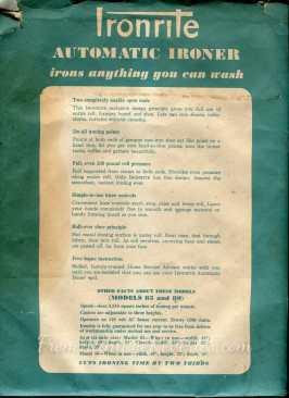 ironrite envelop