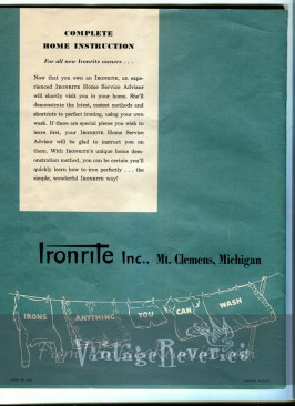 IronRite manual cover